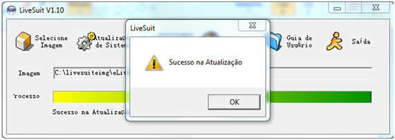 LiveSuite Sucesso na Atualização