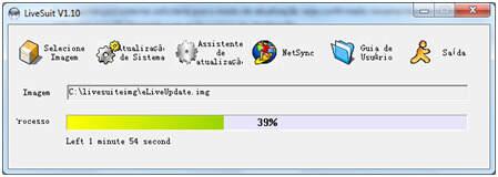 LiveSuite Atualizando o tablet Philco