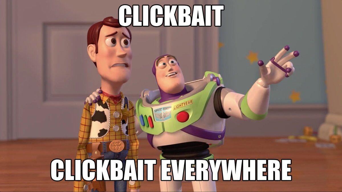 meme do Clickbait por toda parte