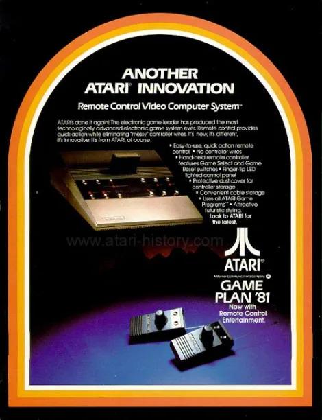 Atari 2700 - anuncio do Atari com controladores sem fio