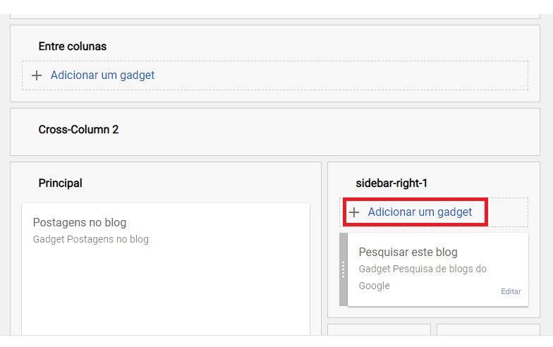 Adicionando cotação no blogger - gadget