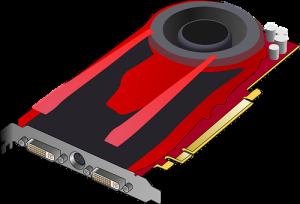 Placa de vídeo vermelha sem marca