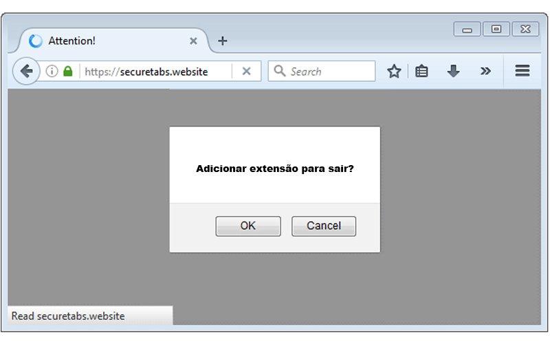 Imagem de Clique em adicionar extensão para fechar a página – Cuidado Não faça isso!