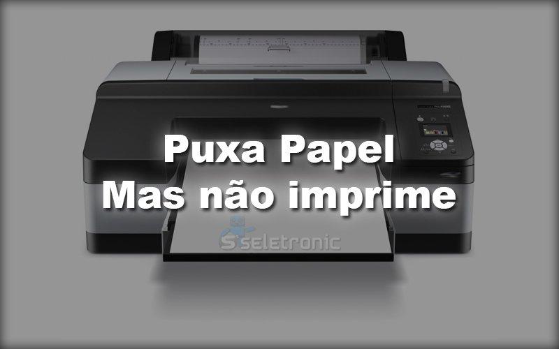 Imagem de Impressora puxa o papel mas não imprime – Veja o que fazer