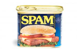 Lata de Spam alimentício
