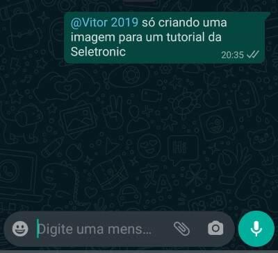 marcar alguém no Whatsapp parte 3