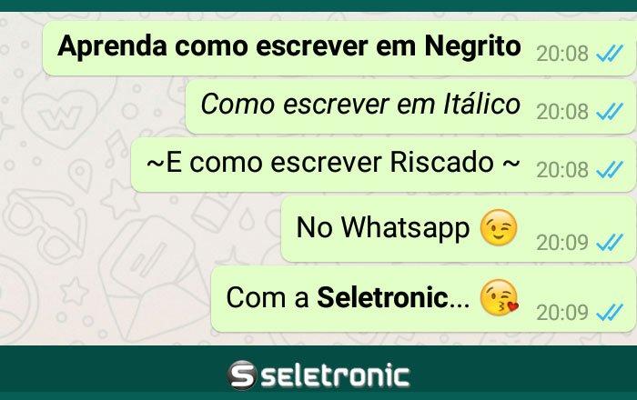 Imagem de Veja como escrever em Negrito, Itálico e Riscado no Whatsapp