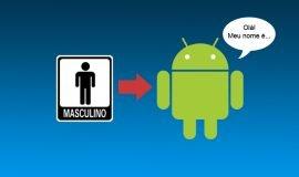 Imagem de História e o nome do robô mascote do sistema Android!