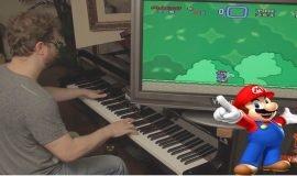 Imagem de Super Mario World no piano