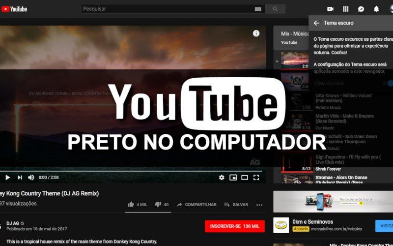 Imagem de Como deixar o Youtube Preto no Computador