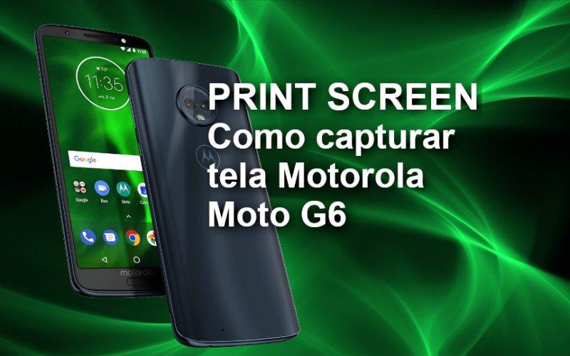 Imagem de Como Tirar Print / Captura de tela Motorola Moto G6