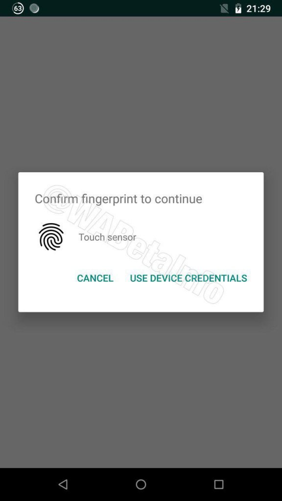 Whatsapp Impressão digital