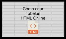 Imagem de Como criar Tabela HTML online