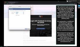 Imagem de Cuidado com o login falso do Facebook que pode roubar contas