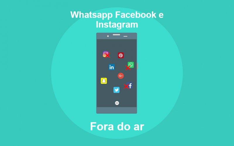 Imagem de Facebook, Instagram e WhatsApp estão todos fora do ar nesta quarta