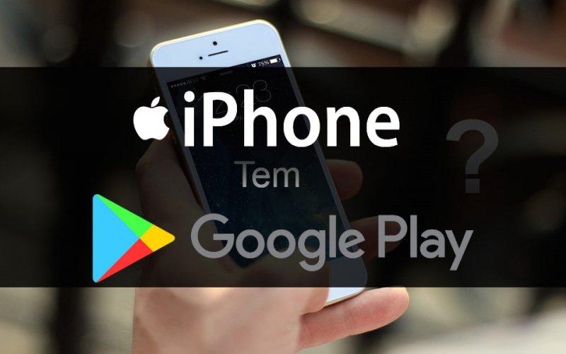 Imagem de iPhone tem Google Play?