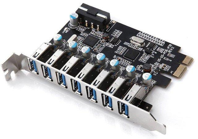 Placa de Expansão USB no padrão PCI-E