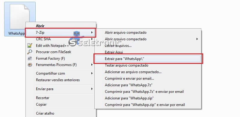Extrair apk do whatsapp para pegar emojis