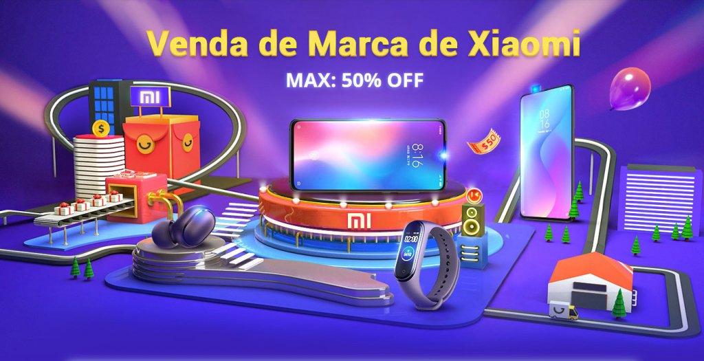 Pagina da promoção Xiaomi