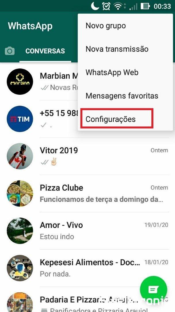 Ativando tema escuro do Whatsapp parte 2