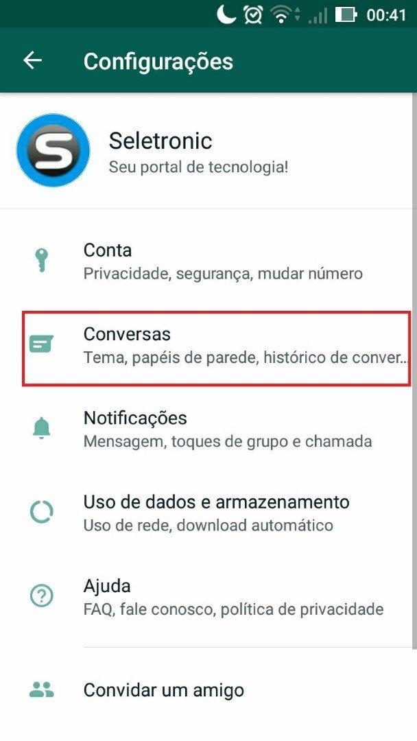 Ativando tema escuro do Whatsapp parte 3