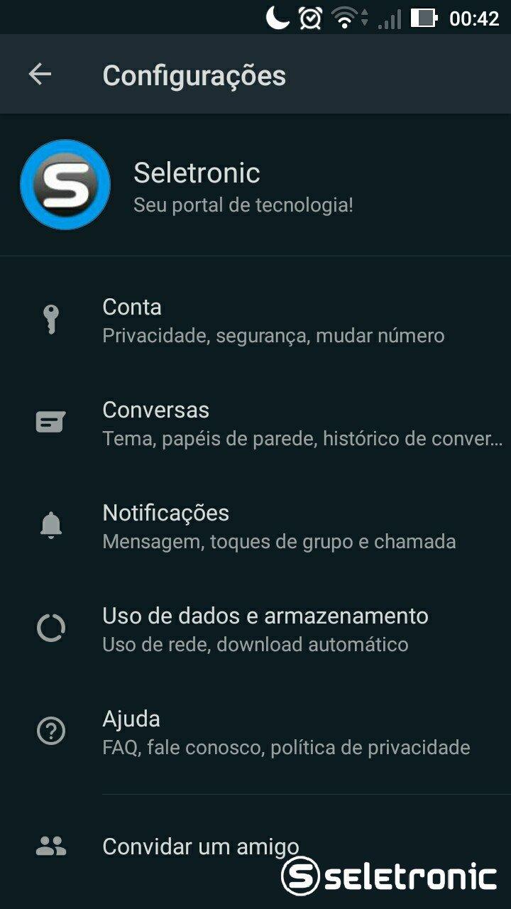 Tema Escuro do Whatsapp - Configurações