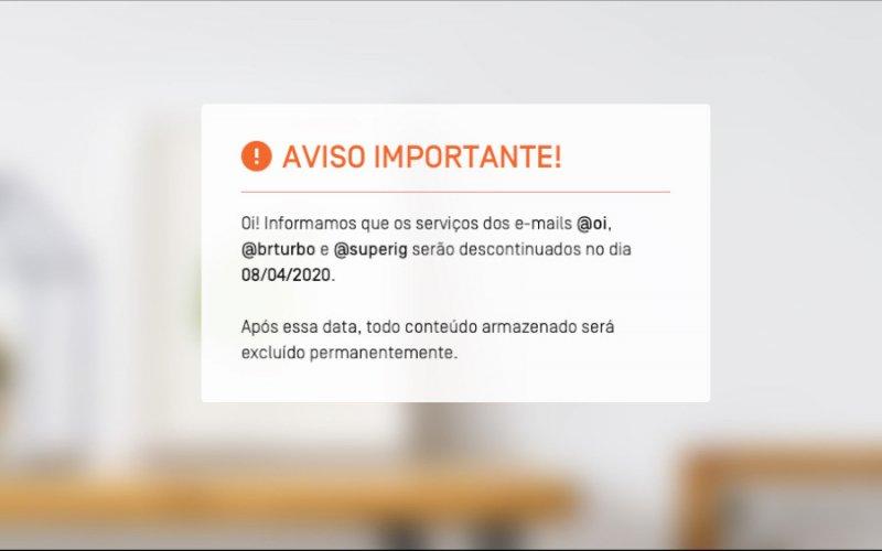 Imagem de Oi Mail acabou! Empresa avisa que serviços de email foram descontinuados