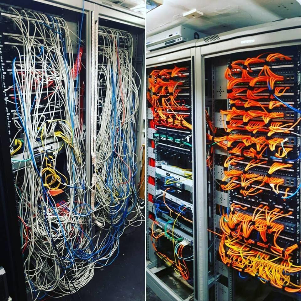 Cable Management no Servidor - Rede