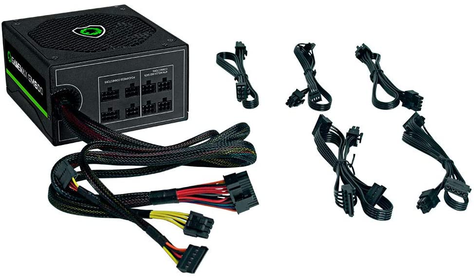 Fonte ATX Gamemax 800W Real 80PLUS semi-modular