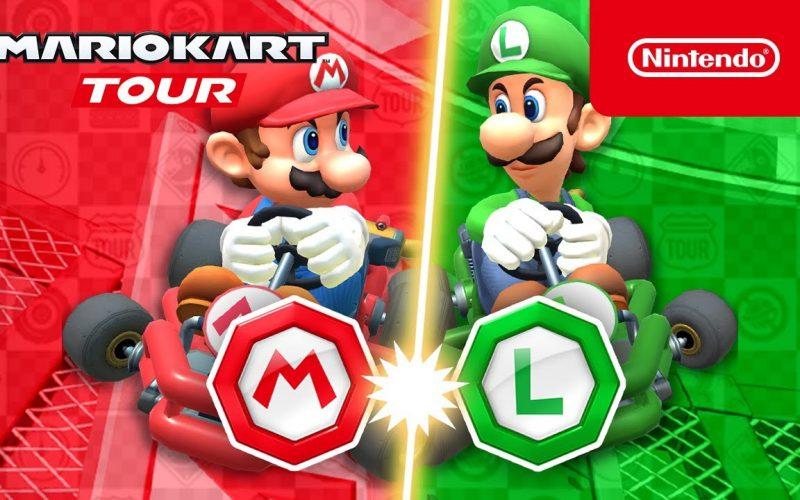 Imagem de Mario Kart Tour iniciou hoje a temporada Mario vs Luigi