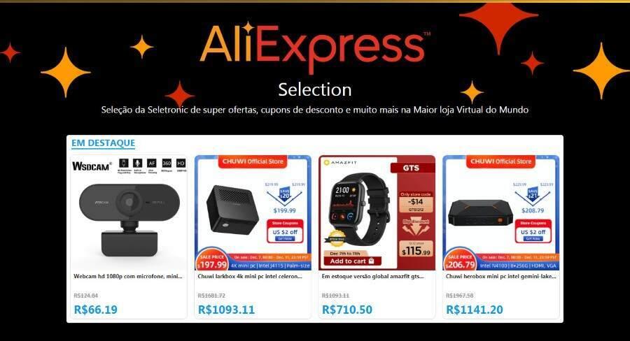 AliExpress Selection Destaques - Melhores Ofertas do AliExpress | AliExpress Experience