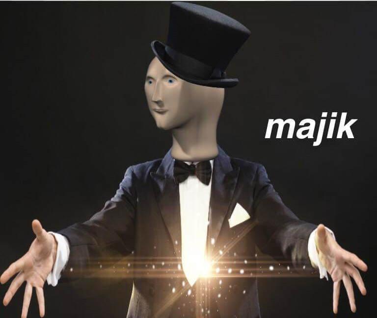 Majik meme - Stonks