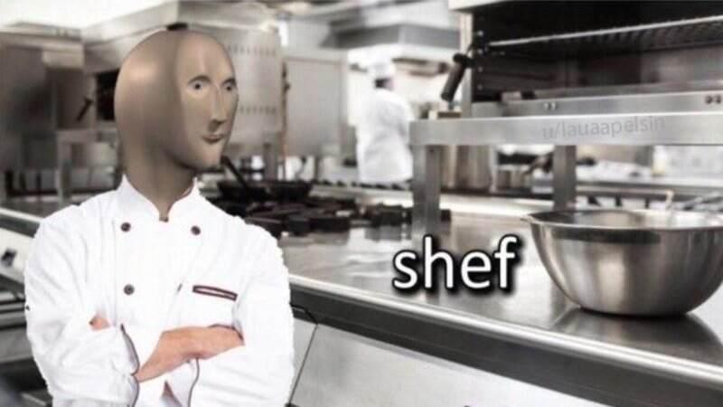 Shef meme - Stonks