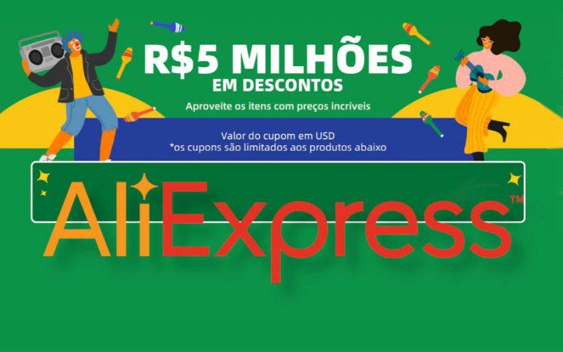 Imagem de AliExpress oferece 5 milhões em desconto – Veja os cupons de Desconto