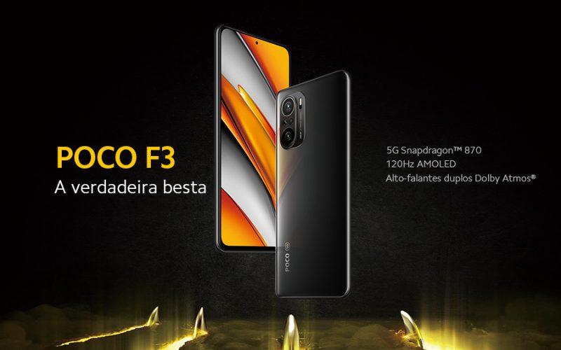 Imagem de Poco F3 5G com Snapdragon 870 e tela 120Hz tem preço reduzido e Cupom e desconto