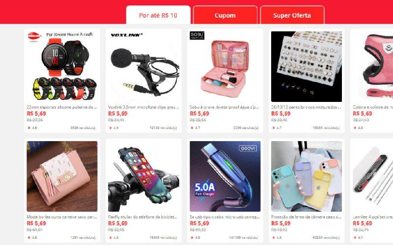 Imagem de AliExpress tem produtos de até 10 reais para novos usuários