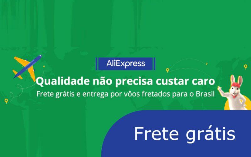 Imagem de AliExpress Frete grátis: Página exclusiva para o Brasil