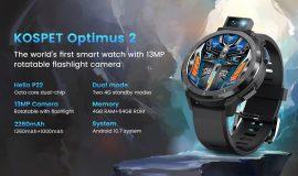 Imagem de KOSPET OPTIMUS 2: Smartwatch com câmera de 13MP 90° em estreia mundial