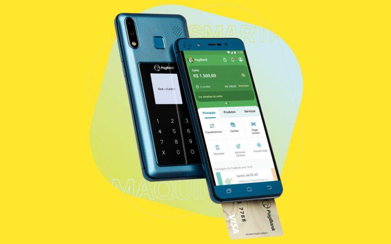 Imagem de Conheça o PagPhone da PagSeguro, um celular com maquininha de cartão integrada