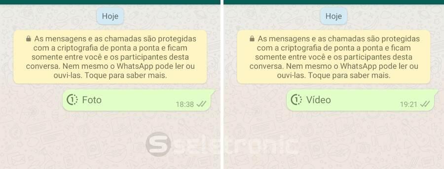 Enviar fotos e videos temporários no Whatsapp - Foto - Video