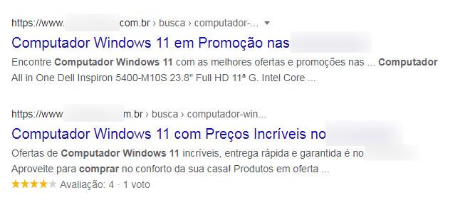 Windows 11 Promoção - Resultado incorreto