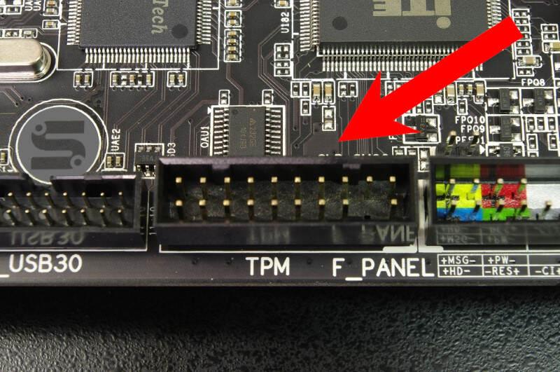 Leito TPM - TPM Header - Conector SPI TPM