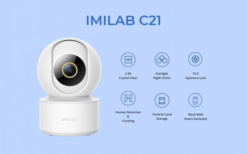 Imagem de Promoção de Lançamento e Review IMILAB C21 – Câmera de segurança residencial