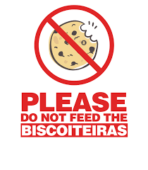não alimente biscoiteira
