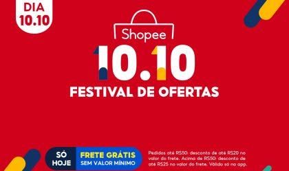 Imagem de Começou 10.10 da Shopee Brasil com um Festival de Ofertas 2021