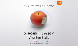 Imagem de A Xiaomi mandou essa? Anúncio do 11 Lite 5G NE usa maçã mordida